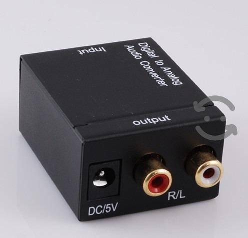 Convertidor de audio analogo toslink a rca