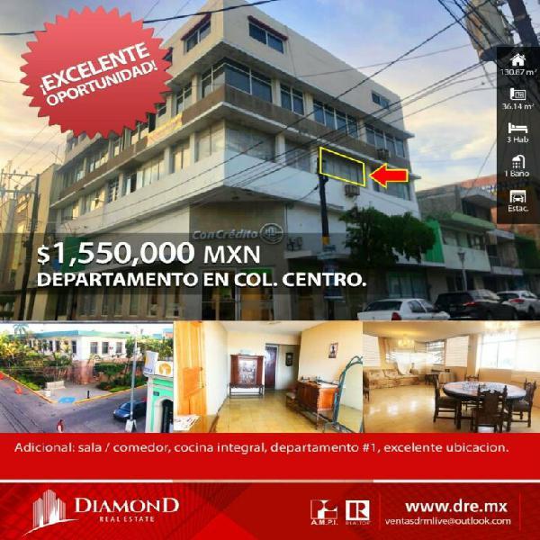 Departamento en col. el centro mazatlán sin en venta