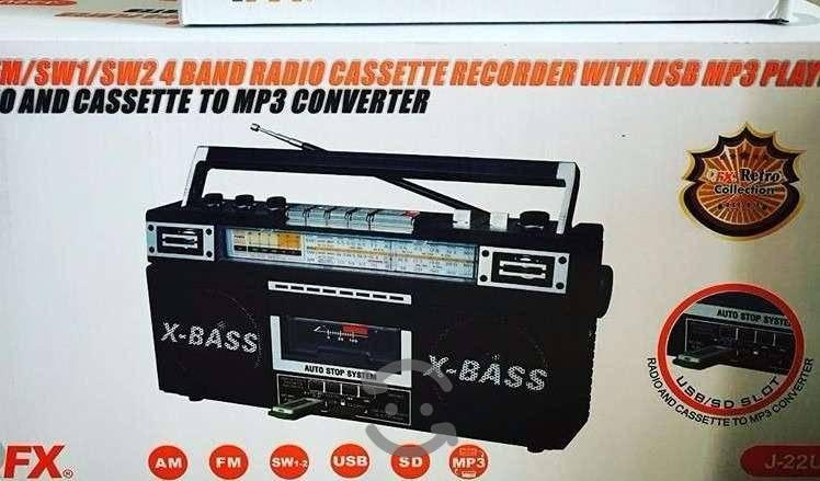 Grabadora radio a cassette en mp3 fm sw sd am qfx