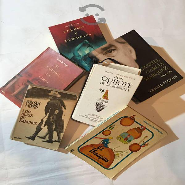 Lote de 6 libros best seller antiguos usados