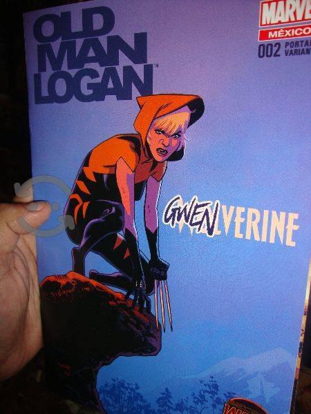 Marvel comics old man logan portada variante gwen