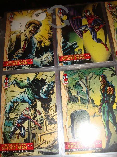 Marvel comics spider man el origen en tarjetas