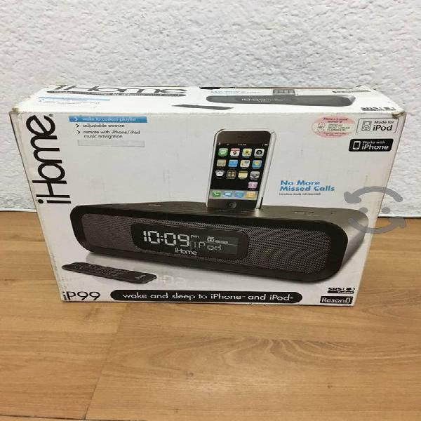Radio reloj despertador ihome ip99 para iphone