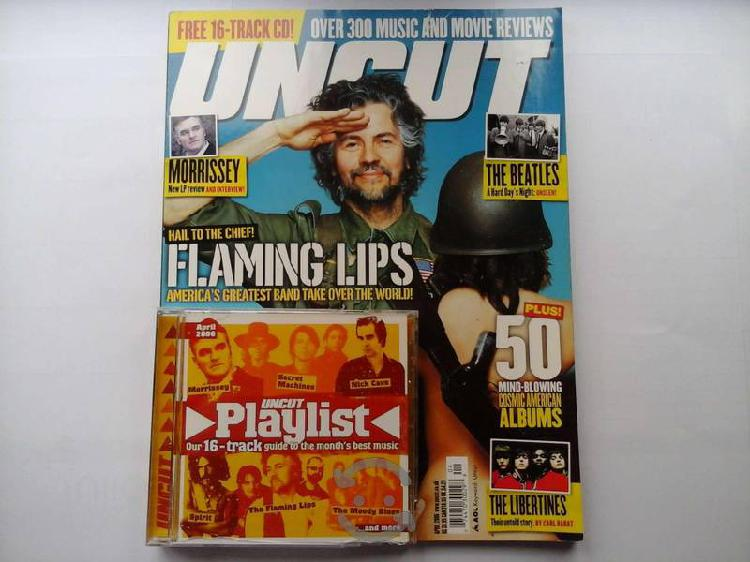 Revista uncut con flaming lips en portada y disco