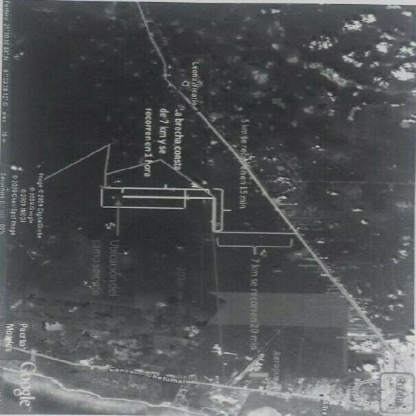 Terreno en venta de 1000 hectáreas cerca al aeropuerto de