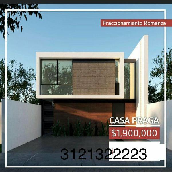 Venta casa fracc romanza modelo praga 1900,000 cercas chanal
