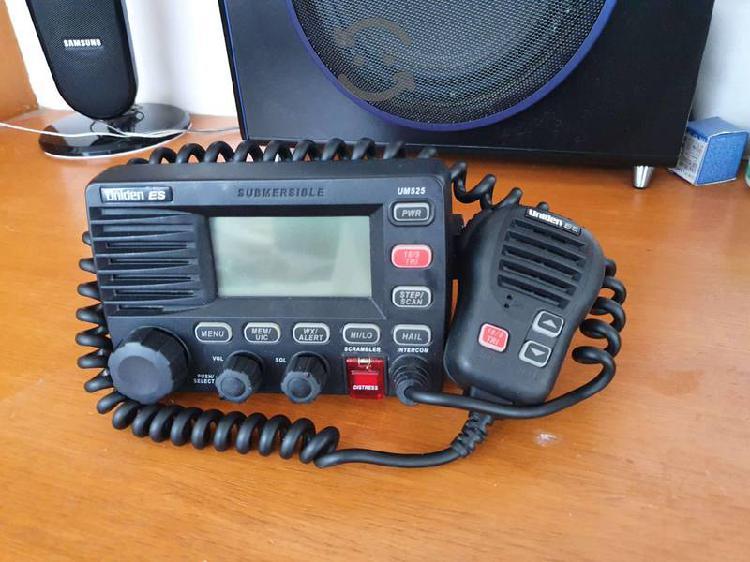 Vhf marino sumergible, 25w, radio negro, uniden