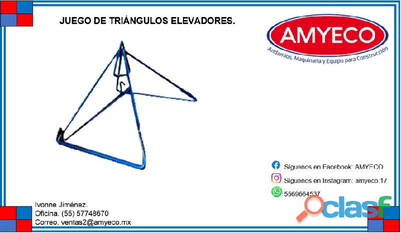 JUEGO DE TRIÁNGULOS ELEVADORES.