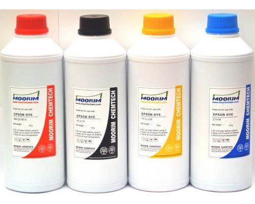 6 litros de tinta marca moorim tipo dye compatible con epson