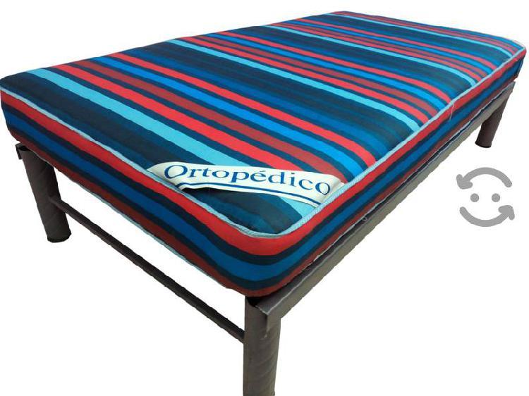 Bases de cama indeformable con colchon ortopedico
