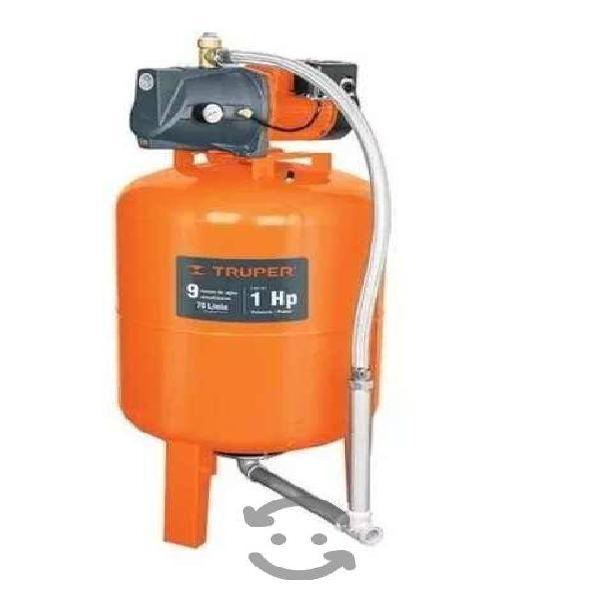 Bomba hidroneumatica 1hp 100 litros truper