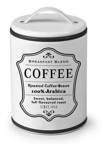 Bote para cafe metallico con asa redondo blanco marca ibili
