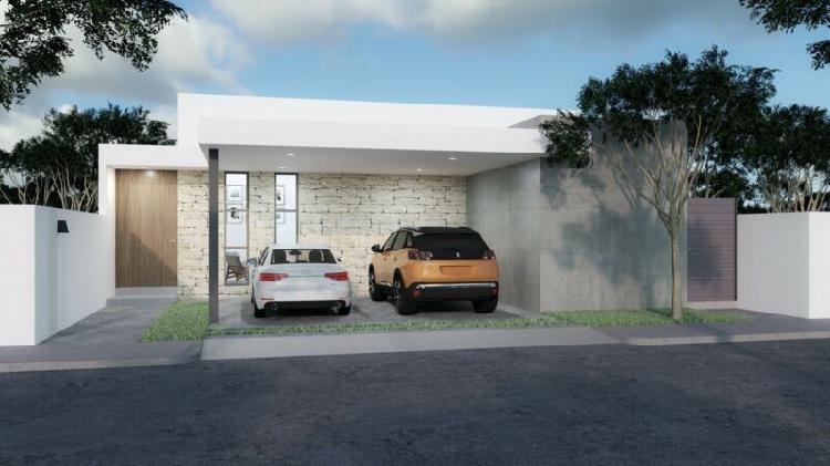 Casa nueva de una planta en venta, mirova modelo 3, dzitya,