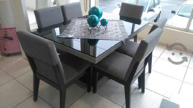 Comedor 6 sillas black crystal modelo 49963