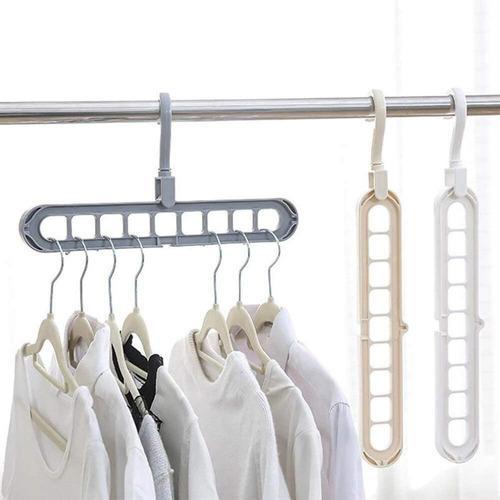 Gancho multiple de plastico organizar ropa pantalones closet