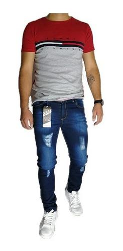 Jeans de mezclilla corte skinny marca #indutexymoda
