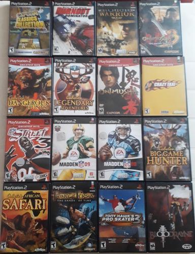 Lote de 51 juegos originales ps2 socom madden coraline