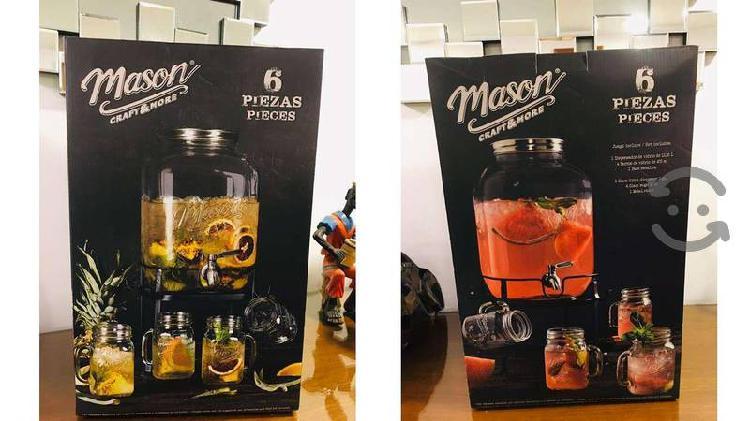 Mason craft & more set dispensador, 4 jarrones y b
