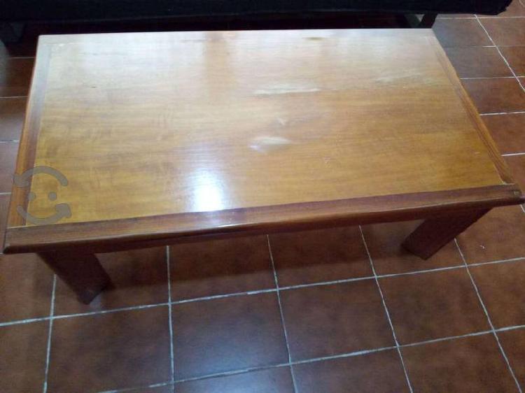 Mesa de centro de madera de cedro, rectangular