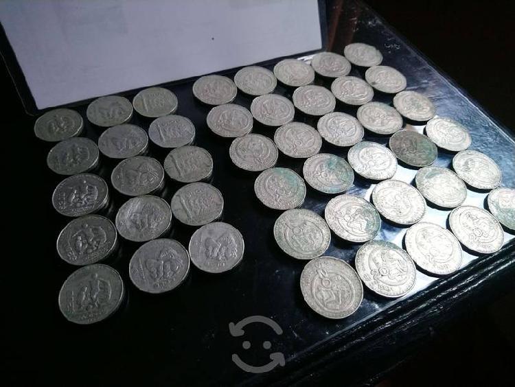 Monedas mundial méxico 86+revolución+independecia