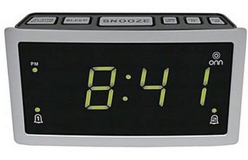 Radio reloj despertador am/fm doble alarma marca onn