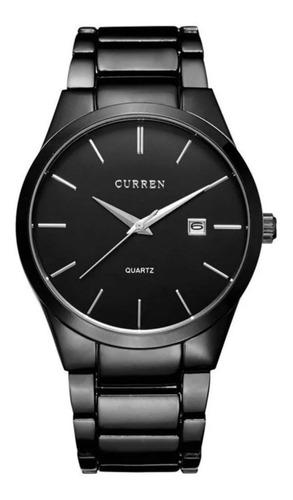 Reloj para hombre marca curren ejecutivo acero fechador