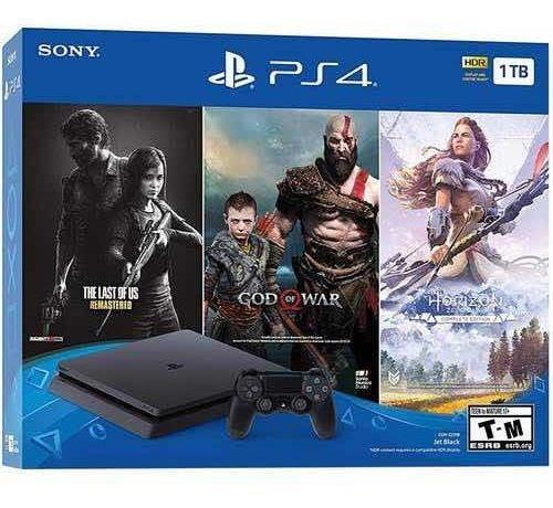 Sony-consola ps4 bundle edition 1tb hits 3- juegos incluidos