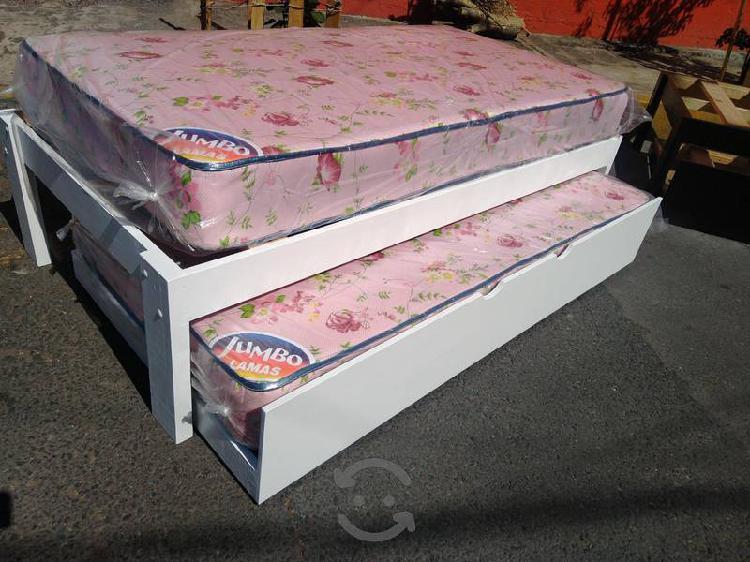 Base cama doble incluye colchónes