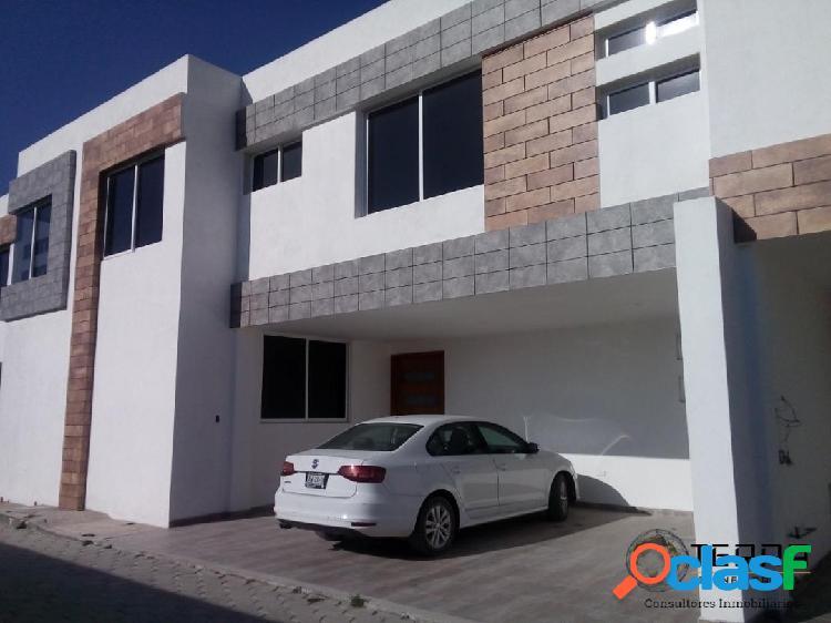 Casa nueva en venta 4 recamaras en san andres cholula