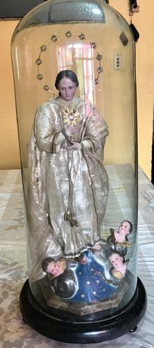 Antigua virgen purísima concepción - porcelana