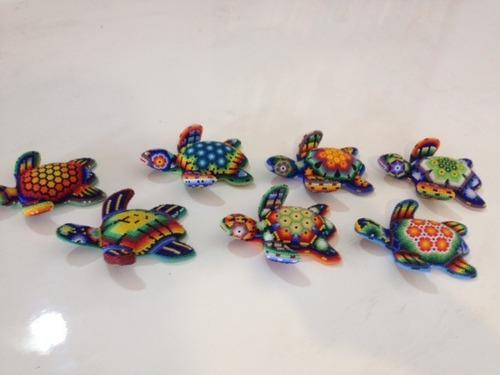 Artesania mexicana huichol chaquira figuras madera
