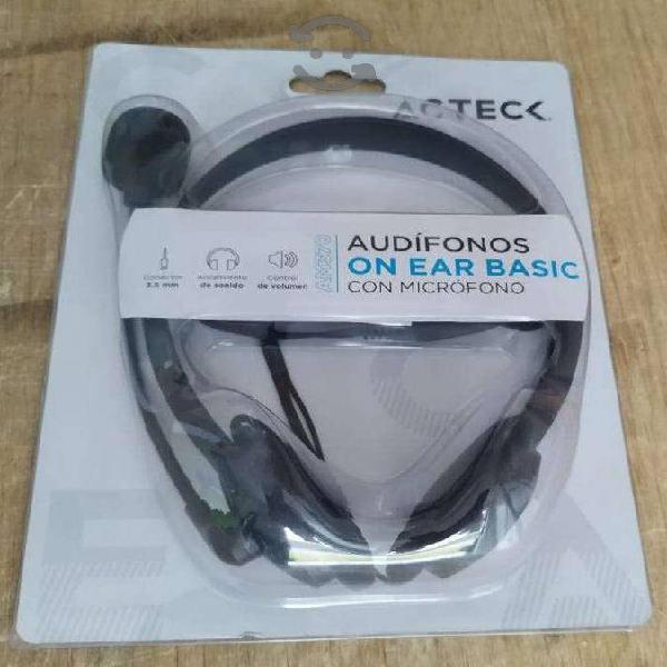 Audifonos con microfono acteck dos plug 3.5mm