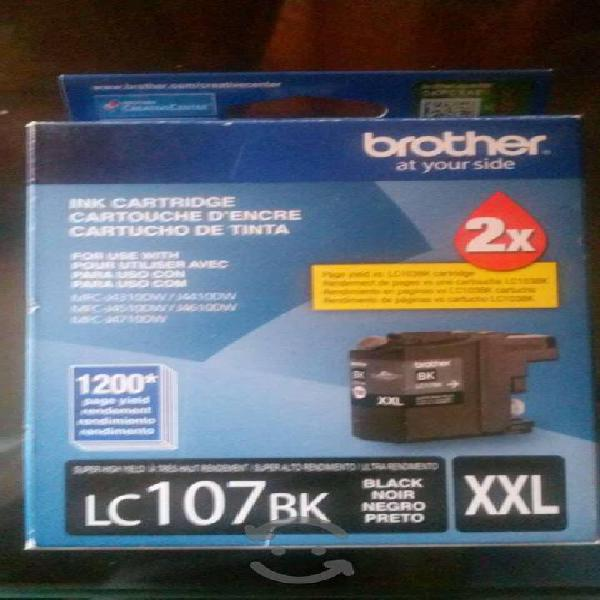 Brother cartuchos lc107bk alto rendimiento nuevos