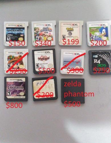 Cartuchos juegos nintendo ds / 3ds