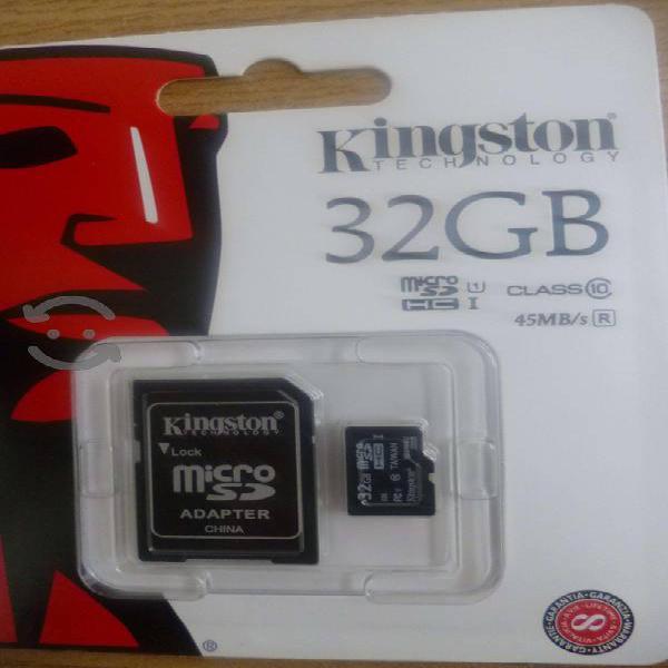 Memoria micro sd kingston 32gb clase 10 con adapsd