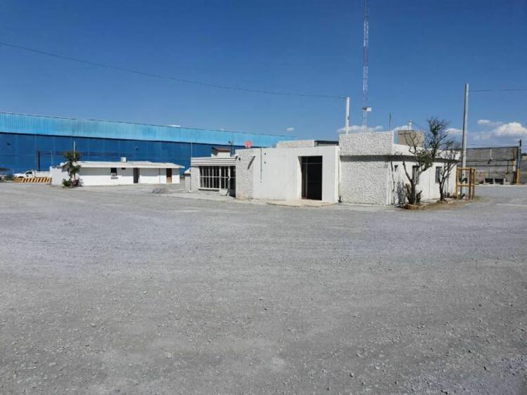Renta. terreno en zona industrial, apodaca n.l.