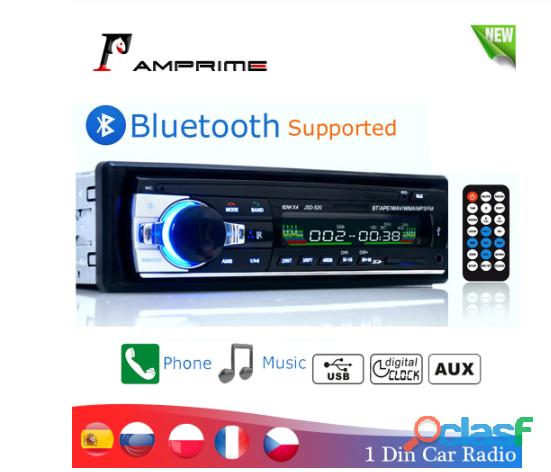 Estéreo para coche con bluetooth amprime