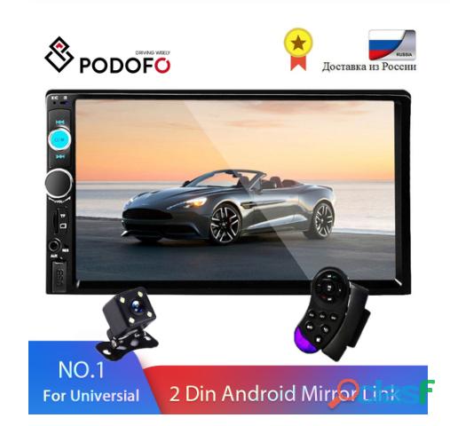 "Radio de coche podofo 2 din 7 ""hd autoradio reproductor multimedia"