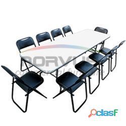 Mesas y sillas para ganar dinero con el alquiler