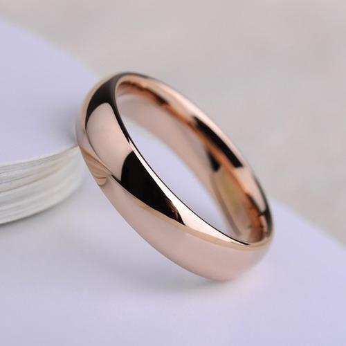 Anillo de tungsteno rose gold oro rosa matrimonio regalo