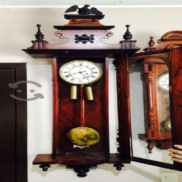 Antiguo reloj regulador de pared gustav becker