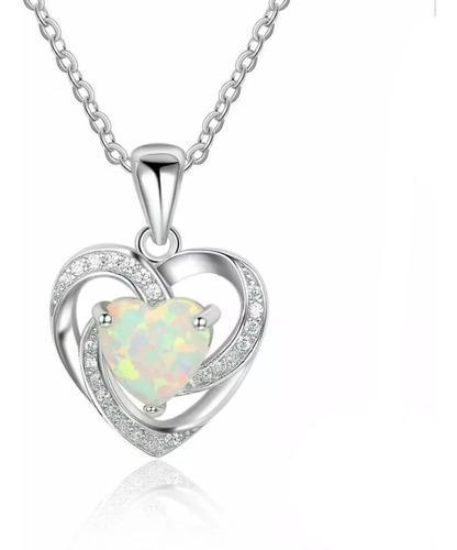 Collar y anillo de plata s925 corazon de opalo envio gratis