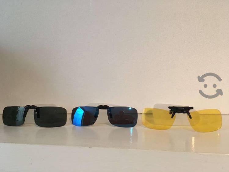 Gafas de sol polarizadas clip plegables nuevas