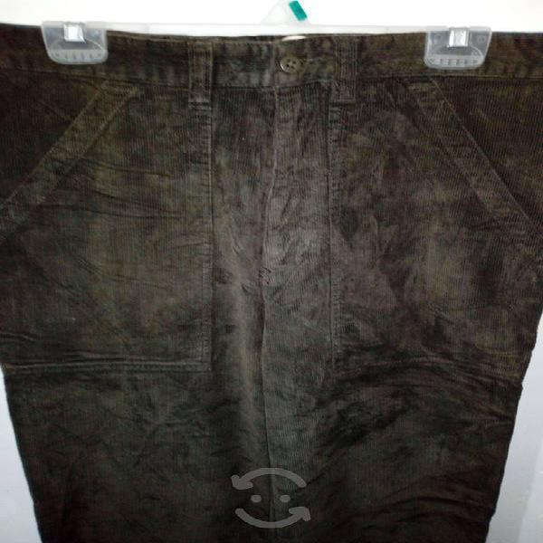 Pantalon pana verde olivo hombre - tommy hilfiger