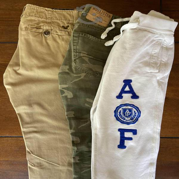 Pantalones abercrombie, american eagle y hollister