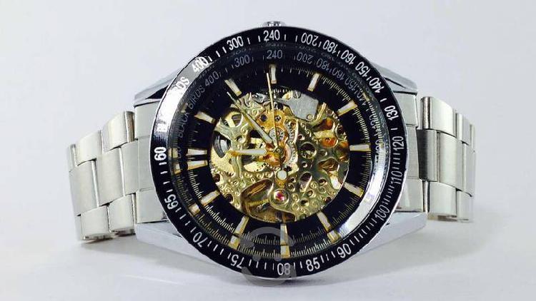 Reloj black birds skeleton automatico