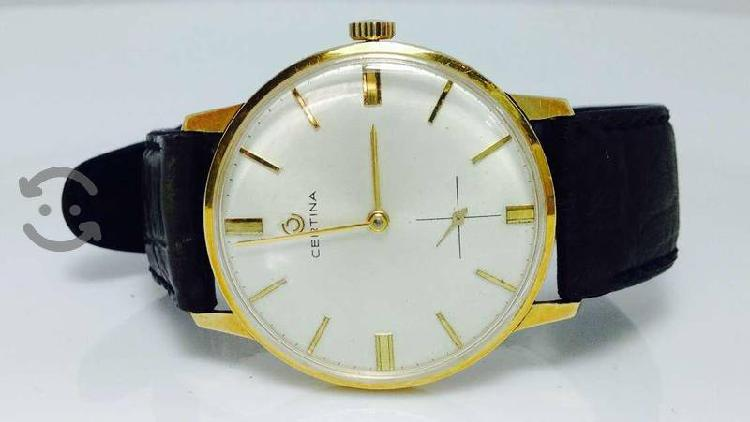 "Reloj de oro sólido de 18 kilates marca ""certina """