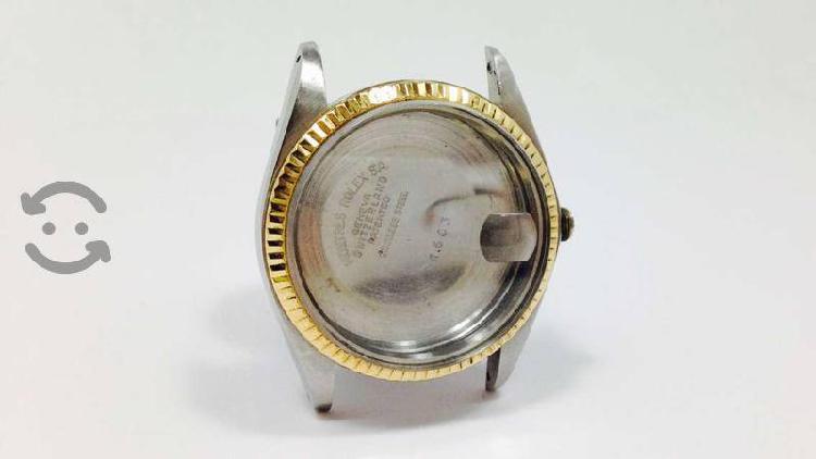 Rolex original oro/acero caja/tapa/bisel/cristal