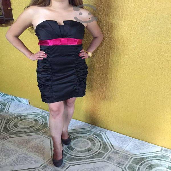 Vestido cóctel talla chica marca shasa