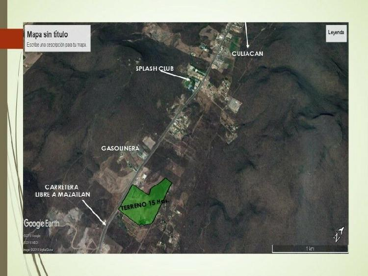 Venta de 15 hectareas de tierra en culiacan, sinaloa